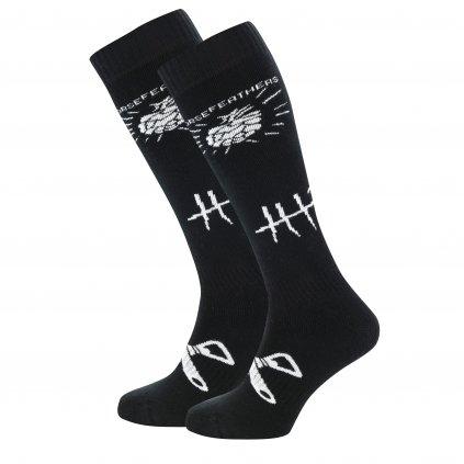 Horsefeathers ponožky Beerology Thermolite Socks Black 18/19