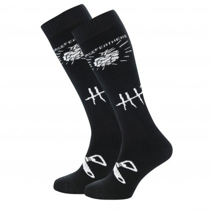 Horsefeathers ponožky Beerology Thermolite Socks Black 18/19