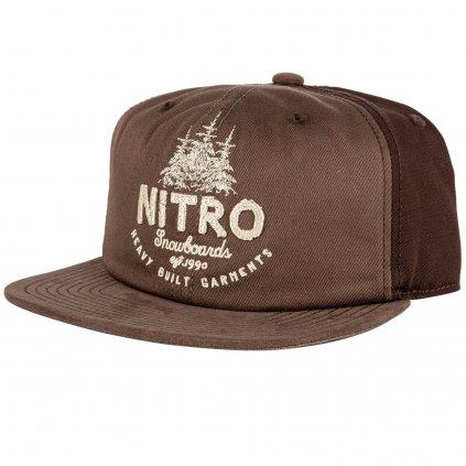 Nitro kšiltovka Woods CAP brown twill  + doručení do 24 hod.
