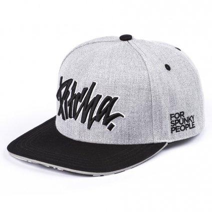 ksiltovka pitcha fsp snapback hat grey black