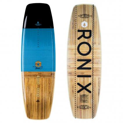 wakeboard ronix top notch black blue wood