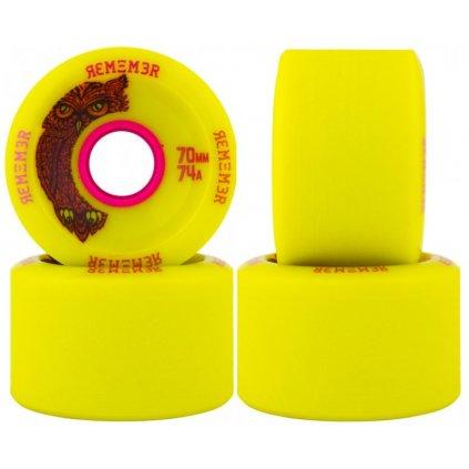 264 remember kolecka hoot slide wheel yellow 70mm 74a 4ks