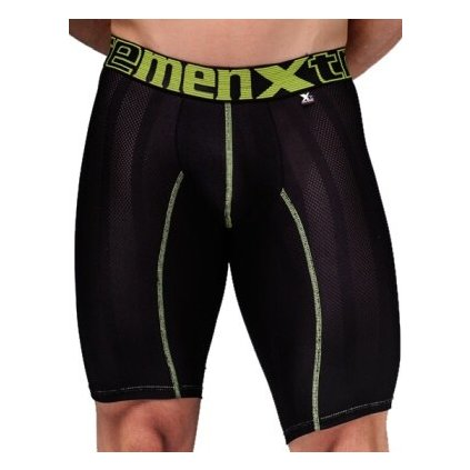 Pánské boxerky Xtremen Sports Boxer Perforated Black Lemon