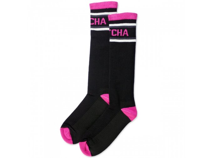 podkolenky pitcha every sock black pink