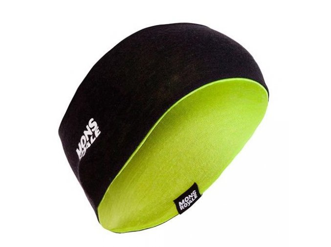 MONS ROYALE merino čelenka UNISEX REVY REVERSIBLE HEADBAND black / lime  + doručení do 24 hod.