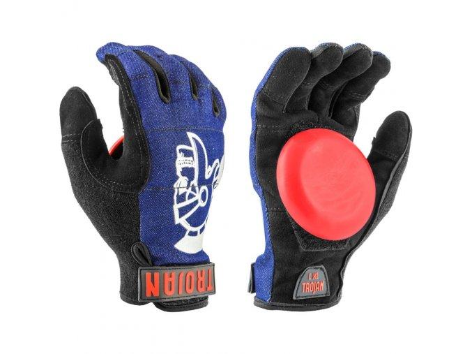 Madrid rukavice na longboard Trojan Denim Disaster Glove cowboy blue S/M