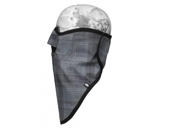 686 technická maska Strap Face Mask grey hunter plaid