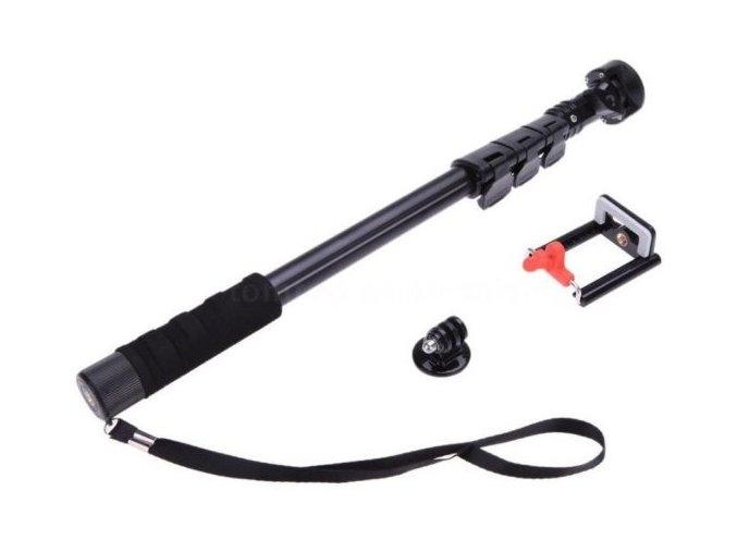 teleskopicky-drzak-monopod-na-gopro--sjcam-123cm-cerny-tripod-mount-adapter-na-mobil