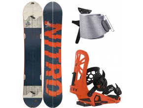 Splitboard komplet Nitro Nomad + Union Expedition Orange + Jones Nomad 19 20
