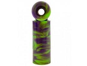 Penny kolečka Wheels 59mm/78a Swirl green/purple 4ks