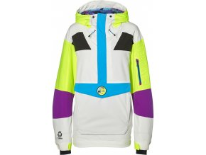 o neill panska zimni bunda pm frozen wave anorak powder white 19 20