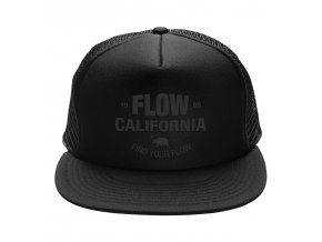 Flow kšiltovka truckerka Basic Cap Black