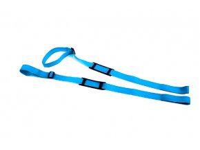 handsfree popruhy na longboard blue