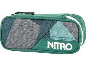Nitro penál Pencil Case fragments green