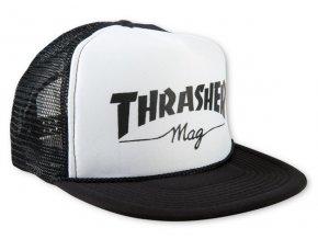 Thrasher kšiltovka trucker Mesh Logo WHT/BLK