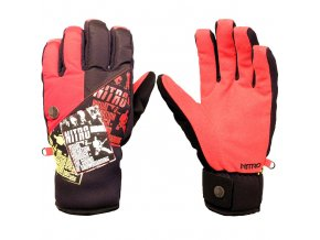 Nitro zimní rukavice THE ZINE GLOVE red-black