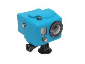 Silikonový obal BK na kameru Gopro 2 modrý