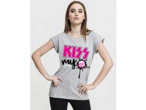 59162 damske triko pitcha kiss tee grey