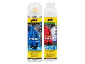 Toko Prací prášek + impregnace TOKO DUO-PACK TEXTILE PROOF AND ECO TEXTILE WASH 2 X 250 ml