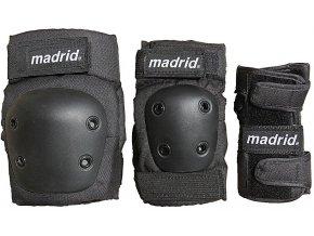 Madrid chrániče sada skate longboard Pad 3 Pack Junior 18/19