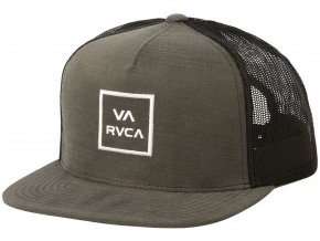 rvca va all the way truck cap dark olive
