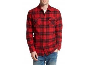 RVCA košile Standoff Pompei Red