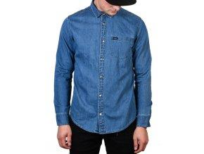 RVCA košile Mason LT indigo
