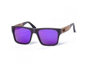 Pitcha sluneční brýle Maasai III sunglasses carbonize purple walnut