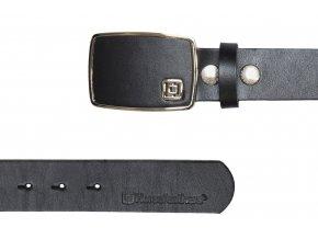 Horsefeathers pásek kožený Fred belt Black 18/19
