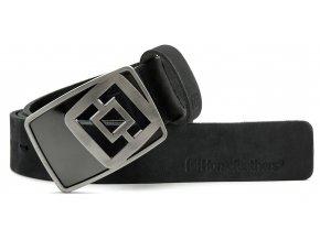 Horsefeathers pásek Arlen brushed black 18/19