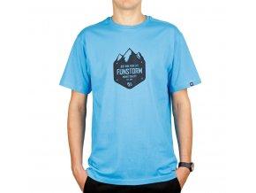 Funstorm tričko Peaks cyan
