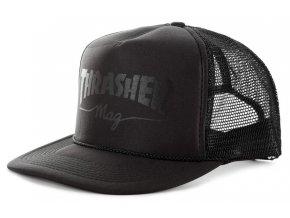 Thrasher kšiltovka trucker Mesh Logo BLK/BLK