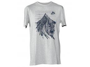 Jones triko Dream Peak Tee gray heather 18/19