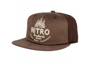 Nitro kšiltovka Woods CAP brown twill