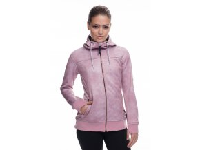 686 mikina Ella Bonded Zip Fleece Hoody Blush Wash 18/19