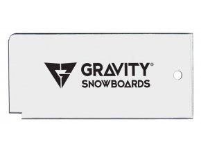 gravity wax scraper clear