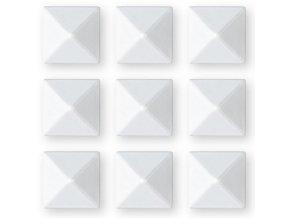 grip gravity pyramid studs white 3