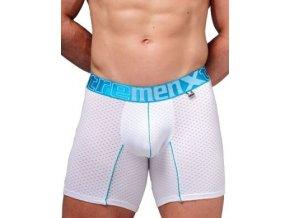 Pánské boxerky Xtremen Full Mesh Sports Boxer White