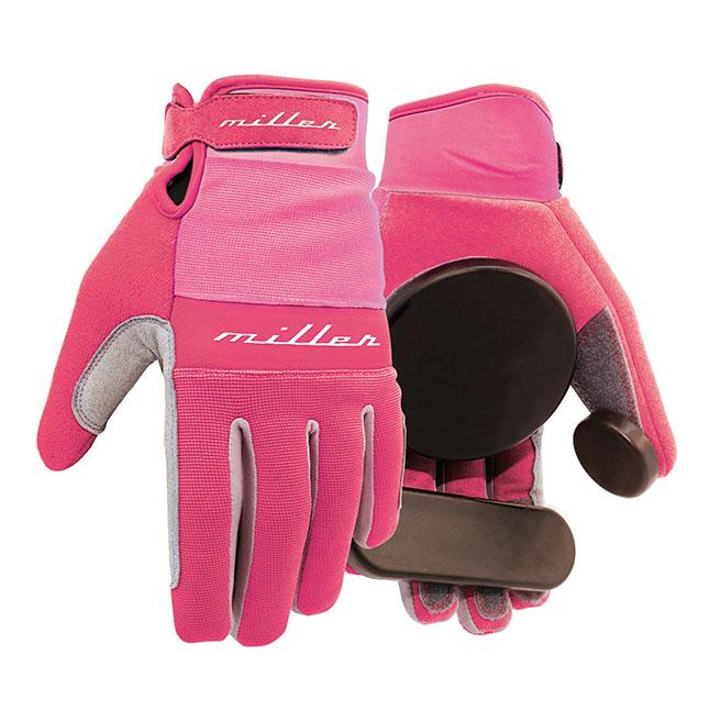 Miller rukavice na longboard Freeride pink S