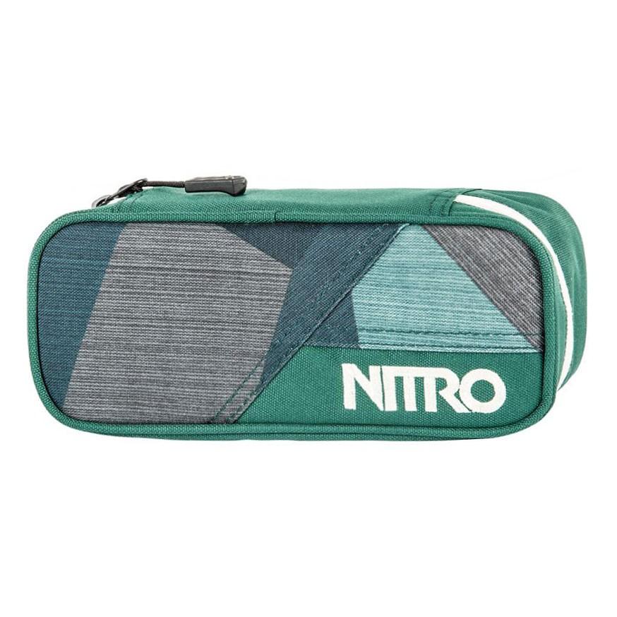 Školní pouzdro Nitro Pencil Case fragments green