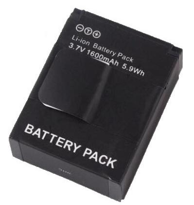 Dobíjecí Li-lon baterie DP pro kamery GoPro Hero 3, Hero 3+ 1600mAH