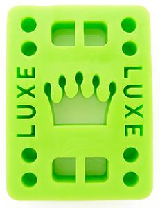 "Luxe podložky na longboard Riser Pads green 1/4"" 6mm 2ks"