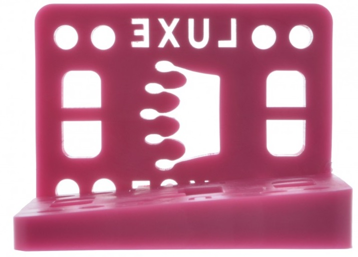 "Luxe podložky na longboard úhlované Wedge Riser pink 1/2"" 2ks"