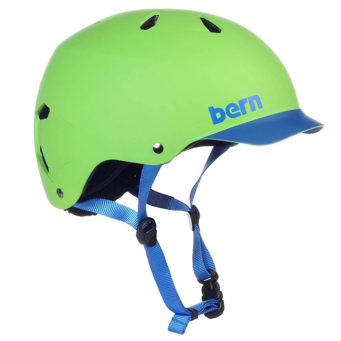 Bern helma Watts matte neon green/blue brim uni Velikost: M