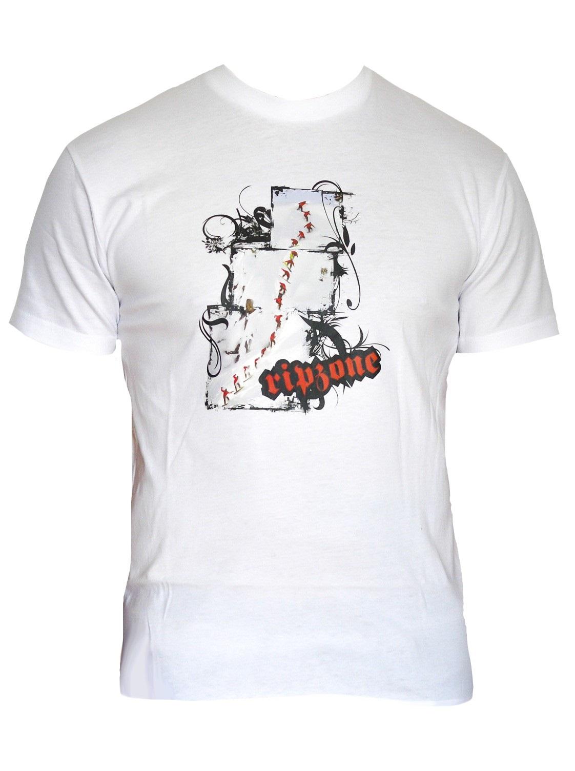 Ripzone tričko Snowboarding white Velikost: M