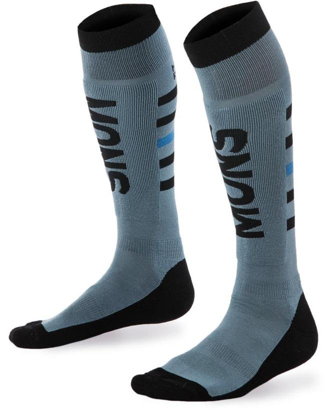 MONS ROYALE ponožky merino MONS SNOW Tech Sock Mens LEAD / BLACK / BAY BLUE 17/18 Velikost: M