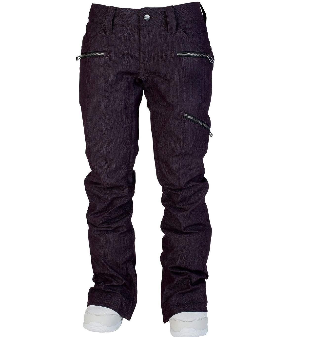 Nitro L1 dámské kalhoty na snowboard Scarlet Opium Overdye Denim Velikost: S Doprava zdarma