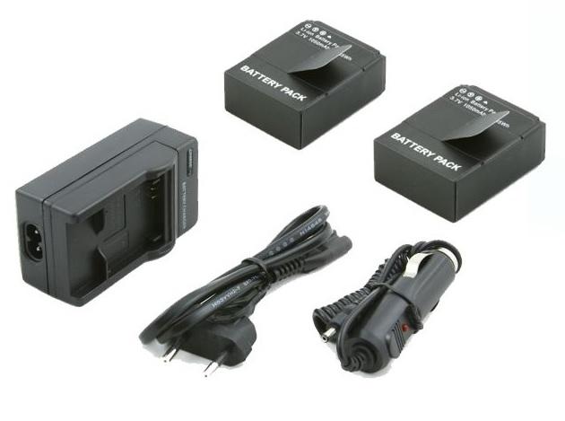 Nabíječka all in one pro GoPro Hero 3 +2x baterie pro GoPro Hero 3 a 3+
