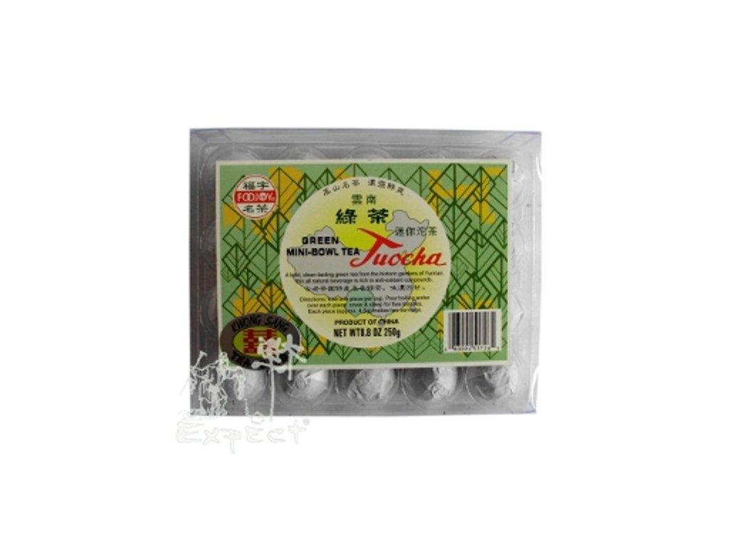 Čaj Pu erh mini tuo cha - zelený typ ,shu/raw_box_250g