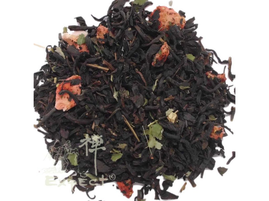 Aromatizovaný čaj Jahodový krém black